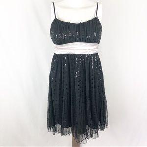 3/$25 Ruby Rox [M] Black Sequin Mini Dress G17